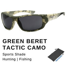 Mens Xloop Military Army Camouflage Camo Wrap Sports Hunting Sunglasses Shade
