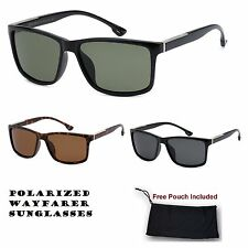 Unisex Manhattan Retro Vintage Polarized Wide Frame Plastic Sunglasses Shade