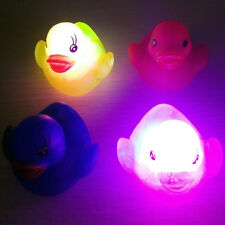 Waterproof Lovely Toy Duck Baby Bath Toys Auto Color Changing LED Light Toys