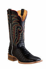 Outlaw Black Mens Caiman Belly Print Leather 13in Cowboy Western Boots