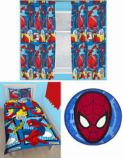 "Spiderman Webhead Kids Single Duvet Quilt Cover Curtains 66""x54"" Rug - 3 Options"