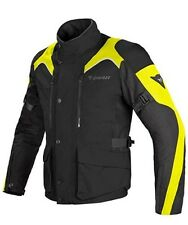 Dainese TEMPEST D-DRY Fluo Yellow Black Textile Waterproof Motorcycle Jacket