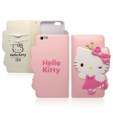 Hello Kitty iPhone 6/6s Plus Wallet Case Cover Clutch Korea Rose Queen 4Colors