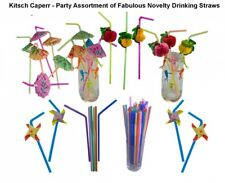 Kitsch, Drinking Straws Party Pack, featuring paper Honeycombe Luau straws, Umbr