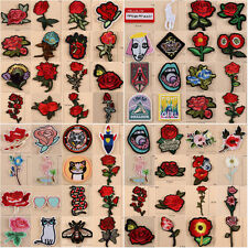 Embroidered Fabric Patches Sew Iron On Badge Hat Bag Clothes Applique Craft