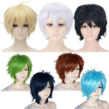 30cm Layered Short Cosplay Wig Unisex Hair Halloween Costume Party Fancy dress