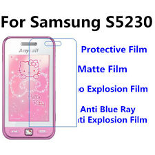 3pcs For Samsung S5230 Matte/High Clear/Anti Blue Ray Screen Protector