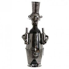 BRUBAKER Wine Bottle Holder Bartender Metal Sculpture Gift. Free Shipping