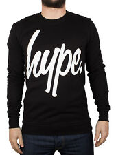 Hype Men's Script Sweatshirt, Black