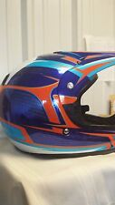 Thor Quadrant MX Helmet Blue Orange Offroad BMX