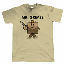 Mr Grimes, Mens Funny Zombie T Shirt