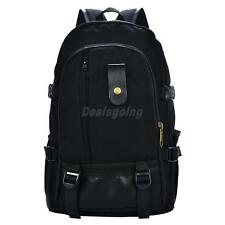 Casual Unisex Womens Mens Canvas Backpack Outdoor Travel Bags 29*12*42cm