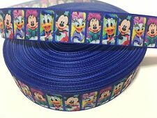 "1"" Mickey and Friends Grosgrain Ribbon FREE SHIPPING USA SELLER"