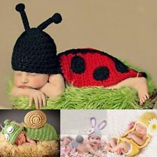 Infant Baby Animal Outfits Photo Prop Handmade Knitted Beanie Hat Costume Set