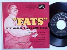 """Fats Waller - """"Fats"""" Waller Plays And Sings EP Vinyl 7"""" 45 - RCA Victor - EPA 44"""