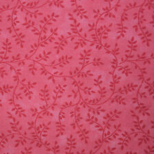 Quilt Fabric Cotton Calico Quilting Pretty Pink Tonal Vines: FQ 17x21