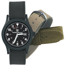 SMITH & WESSON® MILITARY WATCH WITH THREE STRAPS, A GREAT GIFT IDEA W/ GIFT BOX