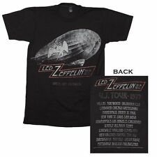 Led Zeppelin Cities 1977 Tour T-Shirt Classic Rock Vintage Music Band Tee