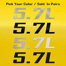 5.7L Decal Graphic Fits Ram Truck, Chevrolet, Corvette, Chevrolet, Pontiac GTO