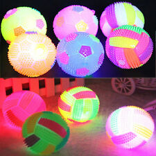 New Light Up LED Glow Football Volleyball Bouncing Massage Balls Funny Toy Gift
