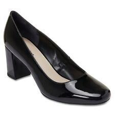 NEW Sandler Camilla Black Patent Leather Court Heel Womens Shoes