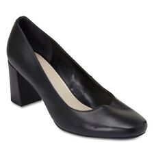 NEW Sandler Camilla Black Leather Court Heel Womens Shoes