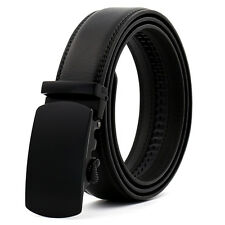 Fashion Casual Black Genuine Leather Automatic Buckle Mens Belt Waistband Strap