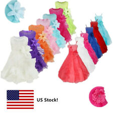 Flower Girl Tutu Birthday Party Princess Wedding Bridesmaid Pageant Formal Dress