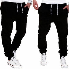 Men Harem Pants Trousers Sweatpants Slacks Casual Jogger Dance Sportwear Baggy d