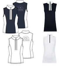 HV Polo Noah Womens Sleeveless High Collar Horse Riding Competition Shirt Top