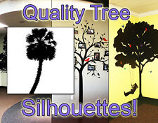 Palm Tree Vinyl Decal, HIGH QUALITY DETAILED Wall Vinyl Silhouette, Wall Decal 4