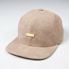 King Apparel Luxe 6 Panel Snapback Cap - Camel Leather - NEW 2017