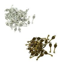 50Pcs 32 x 9mm Steam Punk Demon Skull Key Charms Pendant for Jewelry DIY Makings