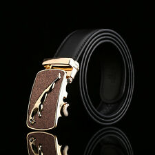 Jaguar Fashion Casual New Mens Belt Genuine Leather Cowhide Automatic Buckle
