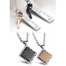 316L Stainless Steel Matching Couple Valentines Day Anniversary Pendant Necklace