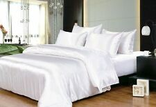 HOTEL COLLECTION 1000TC SATIN SILK WHITE SOLID CHOOSE SIZE & BEDDING SHEET SET
