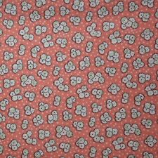 Quilt Fabric Cotton Calico Coral Pink Lil' Flowers by Classic Cottons: FQ 18x21