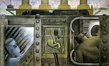 """DIEGO RIVERA Painting Poster or Canvas Print """"Electric Power"""""""