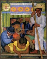 """DIEGO RIVERA Painting Poster or Canvas Print """"Flowered Canoe"""""""