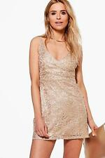 Boohoo Womens Boutique Sade Lace Sequin Bodycon Dress