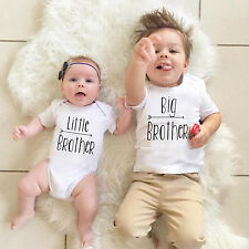Family Matching Newborn Baby Boy Little Big Brother Romper T-shirt Clothes New