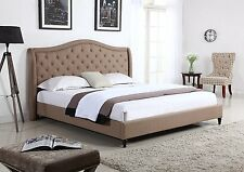 PLATFORM BED FRAME Brown Headboard Tufted Twin Full Queen King Size Furniture