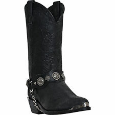 Dingo Mens Black Pigskin Leather Suiter 12in Narrow Toe Cowboy Boots