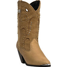 Dingo Womens Chestnut Ava Pigskin Leather Cowboy Boots Suede
