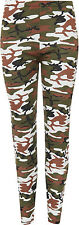 New Womens Plus Stretch Army Camouflage Print Full Length Ladies Leggings 12-26