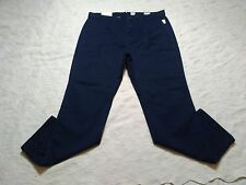GAP CHINOS PANTS MENS RELAXED SLUB SIZE 34X32 TAPESTRY NAVY ZIP FLY NEW WITH TAG