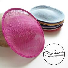 Oval Scallop Sinamay Fascinator Hat Base for Millinery, Hat Making