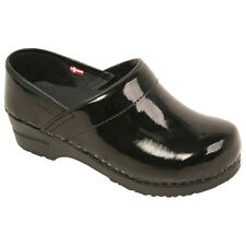 Sanita Women's shoes Professional work Closed Back Clog in Patent Leather