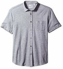 Lacoste Men's Casual Elegance Short Sleeve Full Button Slim Fit Polo
