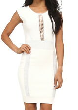 NWT $188 French Connection Cruz Danni Bodycon Dress White 8